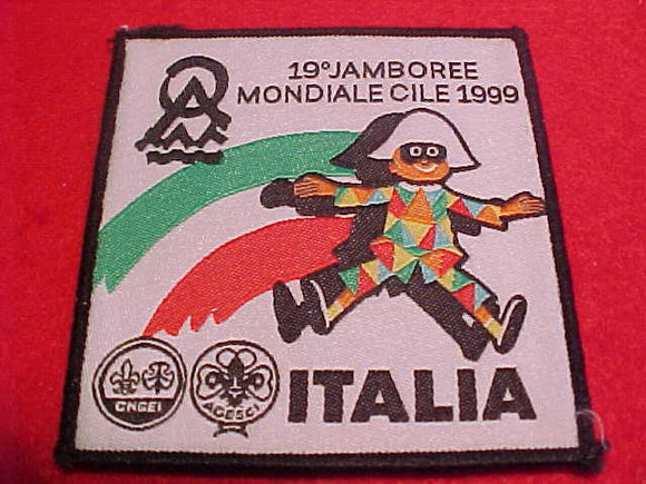 1999 WJ CONTINGENT PATCH, ITALY