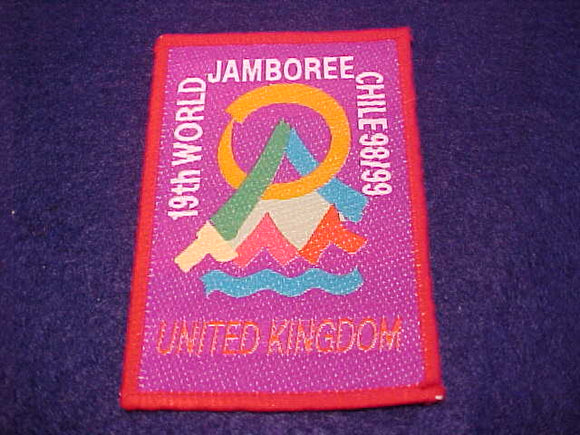 1999 WJ CONTINGENT PATCH, UNITED KINGDOM