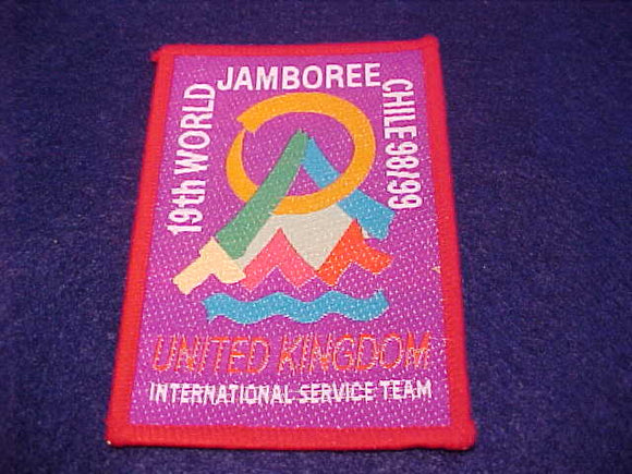 1999 WJ PATCH, UNITED KINGDOM INTERNATIONAL SERVICE TEAM