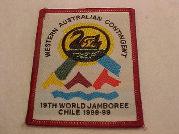 1999 WJ CONTINGENT PATCH, WESTERN AUSTRALIA