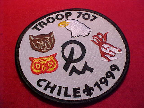 1999 WJ PATCH, BSA TROOP 707