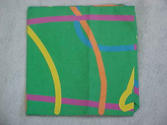1999 WJ NECKERCHIEF, YOUTH PARTICIPANT, GREEN, MINT