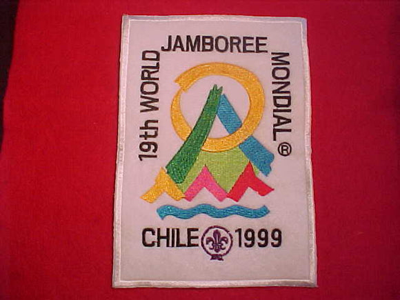 1999 WJ JACKET PATCH, WHITE FELT, EMBROIDERED, 130X185 MM