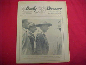 "1929 WJ NEWSPAPER, ""THE DAILY ARROW"", 8/3/29, THE PRINCE ON COVER, GOOD COND."