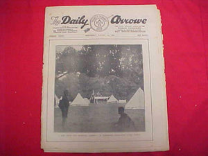 "1929 WJ NEWSPAPER, ""THE DAILY ARROW"", 8/7/29, JAMBOREE AUXILIARY CAMP ON COVER, FAIR COND."