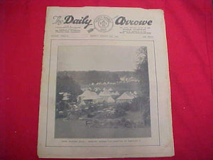 "1929 WJ NEWSPAPER, ""THE DAILY ARROW"", 8/12/29, CAMP SCENE ON COVER, FAIR COND."