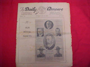 "1929 WJ NEWSPAPER, ""THE DAILY ARROW"", 7/31/29, BRITISH ROYALS ON COVER, FAIR COND."