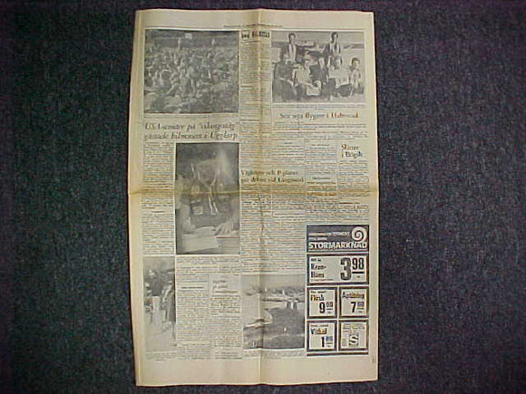 1975 WJ LOCAL NEWSPAPER, HALLANDS NYHETER, 7/28/75, WJ ARTICLES & PICTURES
