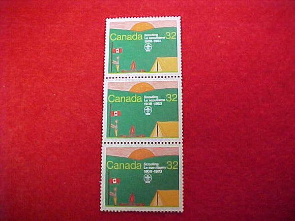 1983 WJ CANADA 32¢ POSTAL STAMPS, SET OF 3