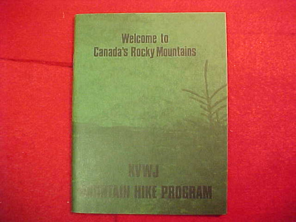1983 WJ BOOKLET, MOUNTAIN HIKE PROGRAM