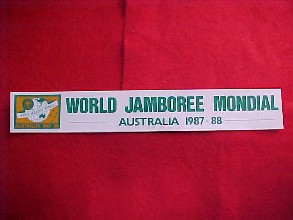 1987-1988 WJ STICKER, 1.75 X 11.75