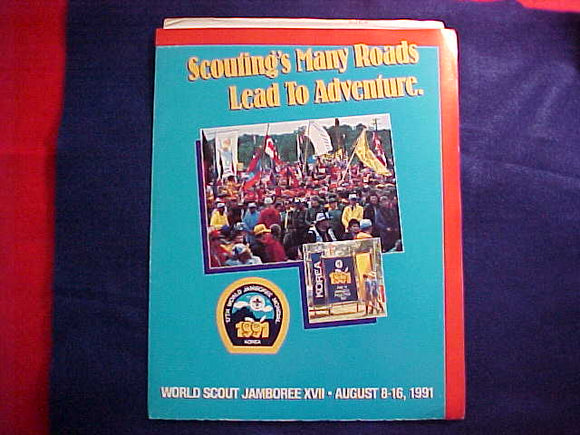 1991 WJ BSA SCOUT APPLICATION, 6 BROCHURES ON TOUR OPTIONS AND FOLDER