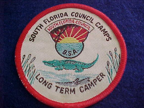 SOUTH FLORIDA COUNCIL CAMPS, LONG TERM CAMPER, WOVEN