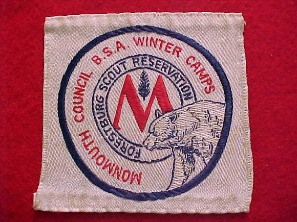 FORESTBURG SCOUT RESERVATION, MONMOUTH C. WINTER CAMPS, WOVEN, USED