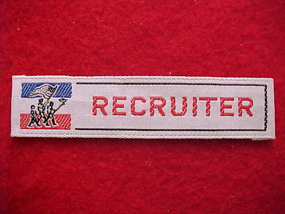 RECRUITER, R/W/B SCOUTS W/ FLAGS, WOVEN STRIP