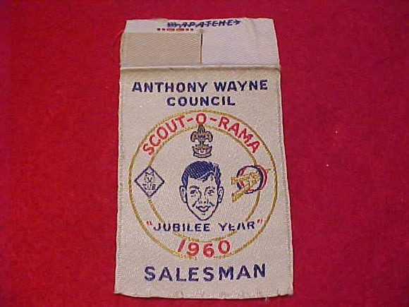 ANTHONY WAYNE C., 1960 SCOUT-O-RAMA, SALESMAN, WOVEN, USED