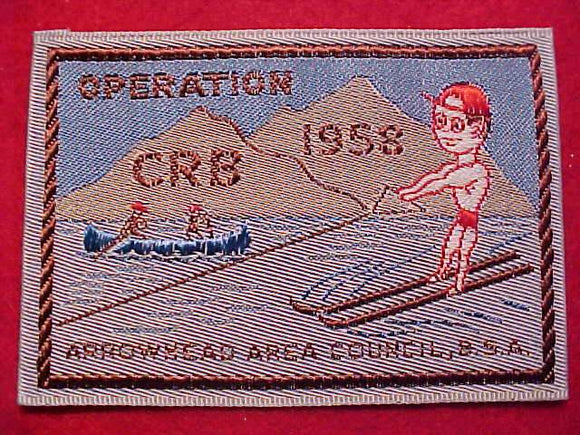 ARROWHEAD C., 1958 OPERATION CRB, WOVEN