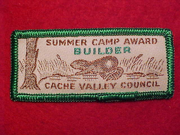 CACHE VALLEY C. SUMMER CAMP, BUILDER AWARD, WOVEN