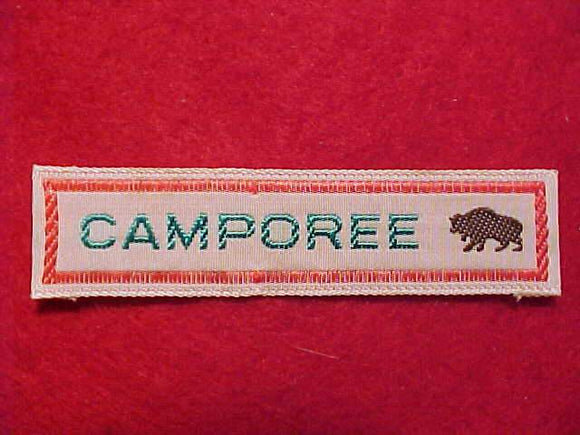 CAMPOREE STRIP W/ BUFFALO DESIGN, WOVEN