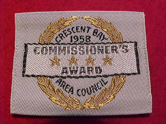 CRESCENT BAY AREA C. COMMISSIONER'S AWARD, 1958, WOVEN