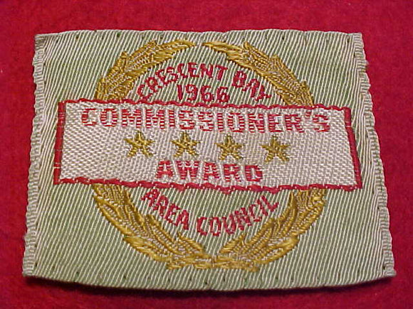 CRESCENT BAY AREA C. COMMISSIONER'S AWARD, 1966, WOVEN, USED