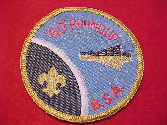 GO ROUNDUP, 1960'S, GEMINI CAPSULE ORBITING EARTH, WOVEN