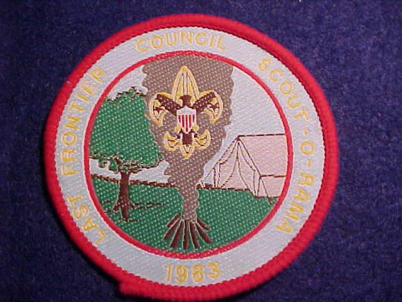 LAST FRONTIER C. SCOUT-O-RAMA, 1983, WOVEN