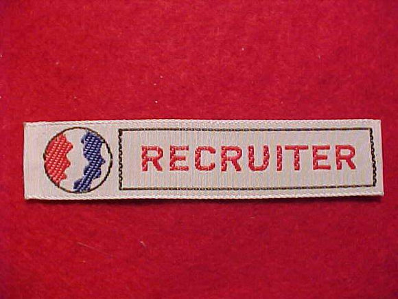RECRUITER, R/W/B SCOUT FACE PROFILE DESIGN, WOVEN