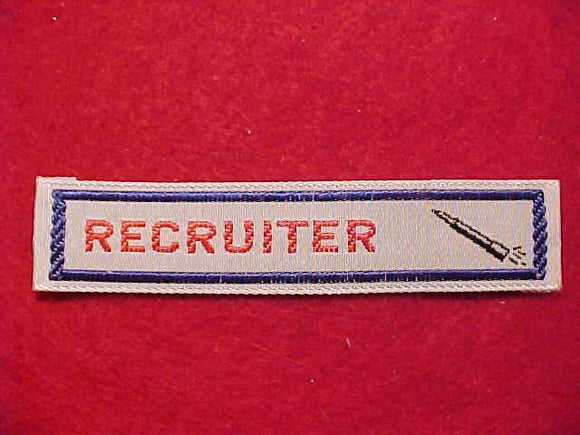 RECRUITER, ROCKET DESIGN, WOVEN