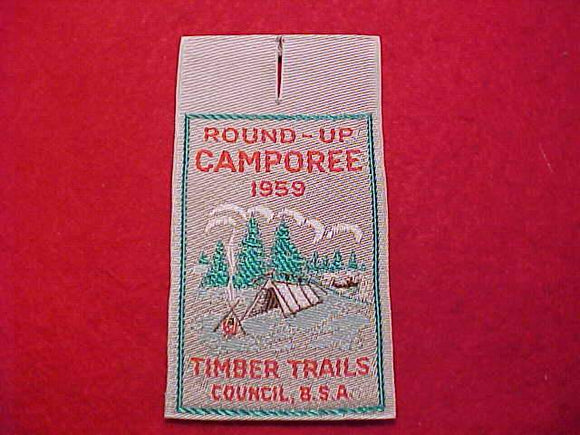 TIMBER TRAILS C., 1959, ROUND-UP CAMPOREE, WOVEN
