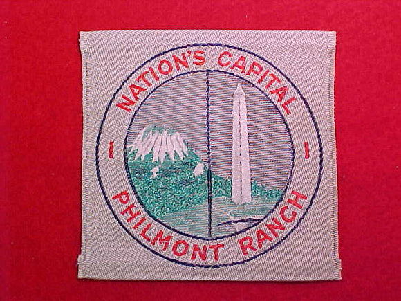 NATION'S CAPITAL PHILMONT RANCH CONTINGENT WOVEN PATCH