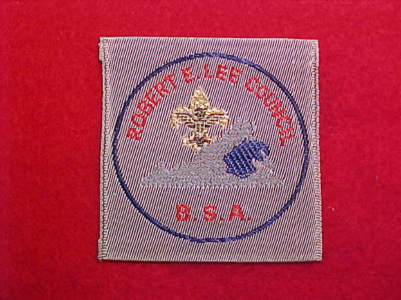 ROBERT E LEE COUNCIL WOVEN PATCH