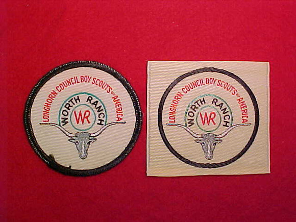 WORTH RANCH, LONGHORN COUNCIL WOVEN PATCHES-2 DIFFERENT