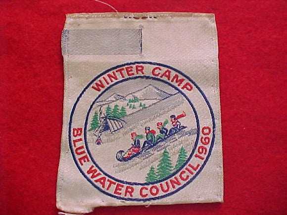 BLUE WATER C. WINTER CAMP, 1960, WOVEN, USED