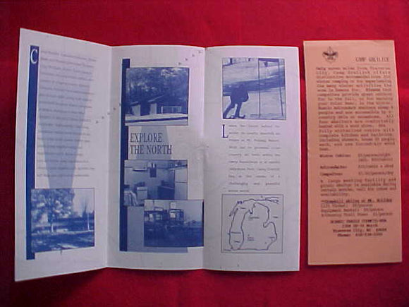 CAMP GREILICK, 1970'S?, WINTER ADVENTURE BROCHURE, SCENIC TRAILS C.