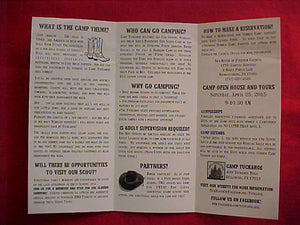CAMP TUCKAHOE, 2015, CUB SCOUT AND WEBELOS SUMMER CAMP BROCHURE, NEW BIRTH OF FREEDOM C.
