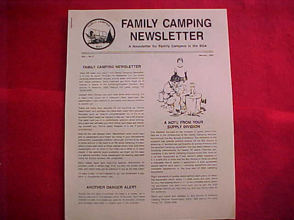 BSA FAMILY CAMPING NEWSLETTER, 1985, VOL. 1, NO. 2