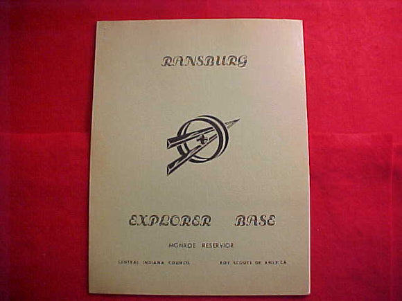 CAMP RANSBURG EXPLORER BASE MANUAL, 1965, MONROE RESERVIOR, 26 PAGES