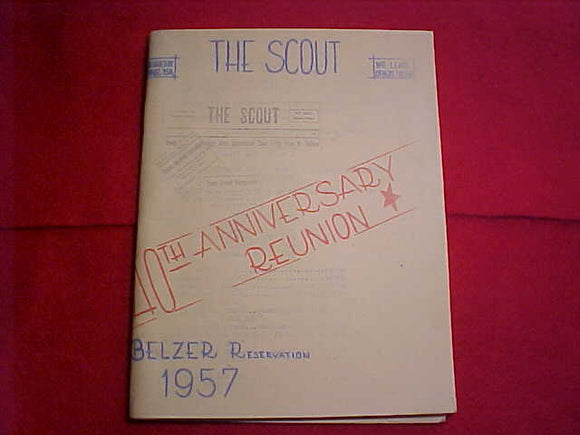 BELZER RESERVATION, 1957, 40TH ANNIV. REUNION BOOKLET, 71 PAGES, GREAT HISTORY W/ PHOTOS