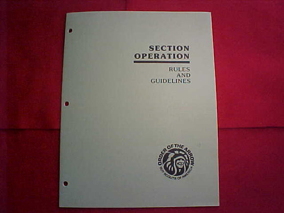 OA BOOKLET, 1987, SECTION OPERATION RULES AND GUIDELINES