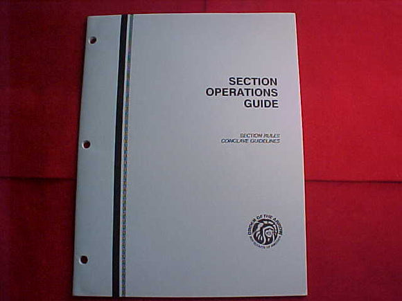OA BOOKLET, 1989, SECTION OPERATIONS GUIDE, SECTION RULES/CONCLAVE GUIDELINES, 68 PAGES