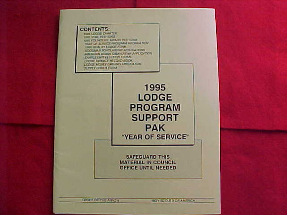 OA PACKET, 1995, LODGE PROGRAM SUPPORT PAK,