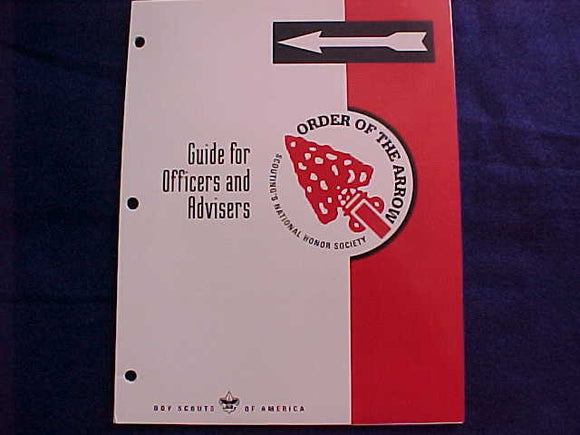 OA BOOKLET, 2002, OA GUIDE FOR OFFICERS AND ADVISERS