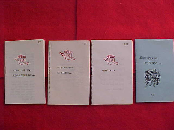 OA LODGE 463, 4 DIFFERENT BOOKLETS