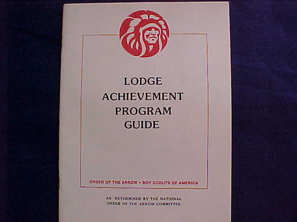 OA LODGE ACHIEVEMENT ACHIEVEMENT PROGRAM GUIDE, 1986