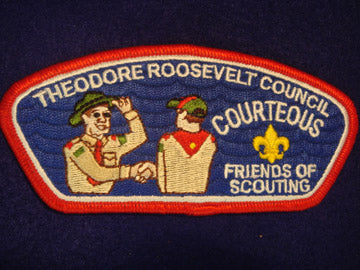 Theodore Roosevelt C (NY) sa12, Courteous, Red Bdr.