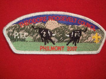 Theodore Roosevelt C (NY) sa43, Philmont 2007, P.T.C., Smy Bdr., 150 made