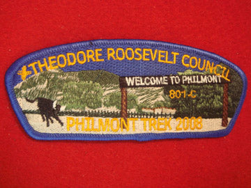 Theodore Roosevelt C (NY) sa60, Philmont Trek 2008, Blue Bdr., 100 made