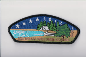 "Southeast Wisconsin C sa44 FOS 2012, ""a scout is clean"""