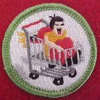 shopping cart racing spoof merit badge